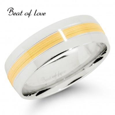 Beat of Love KV280-6 6mm kelta/valkokulta sormus