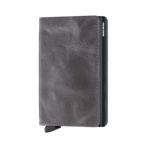 Secrid Slimwallet Vintage Grey Black lompakko