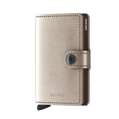 Secrid Miniwallet Metallic Champagne-Brown lompakko