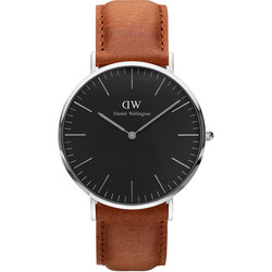 DANIEL WELLINGTON CLASSIC DURHAM BLACK STEEL BROWN DW00100132 40MM rannekello | toimituskulut 0€