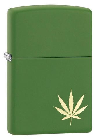 Zippo Z29588 moss green matte Cannabis