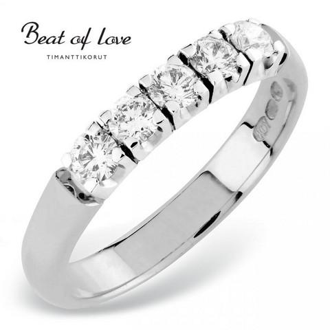 Beat of Love RO-5x0.10DW -timanttirivisormus 0.50ct | toimituskulut 0€