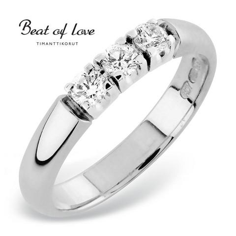 Beat of Love RO-3x0.10DW -timanttirivisormus 0.30ct   toimituskulut 0€