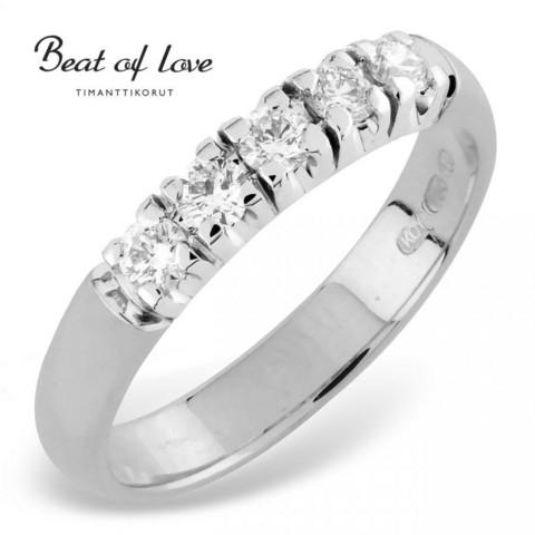 Beat of Love RO-5x0.08DW -timanttirivisormus 0.40ct | toimituskulut 0€