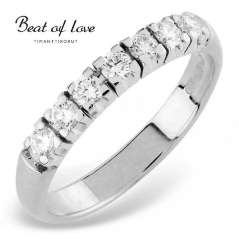 Beat of Love RO-7x0.05DW -timanttirivisormus 0.35ct   toimituskulut 0€