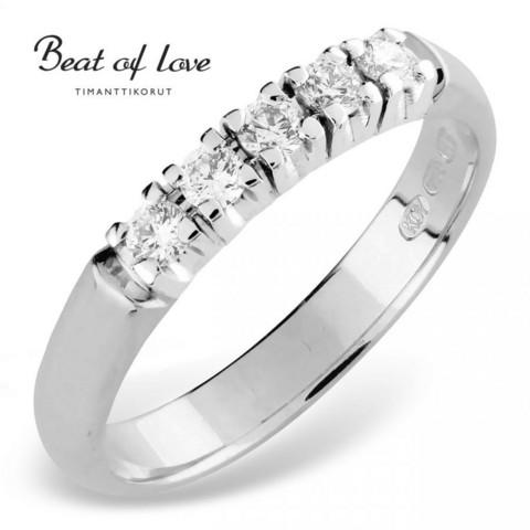 Beat of Love RO-5x0.05DW -timanttirivisormus 0.25ct | toimituskulut 0€