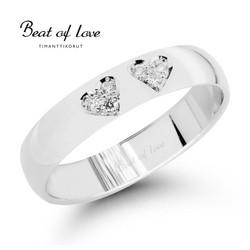 Beat of Love RO-015-VKP-4 valkokulta timanttisormus