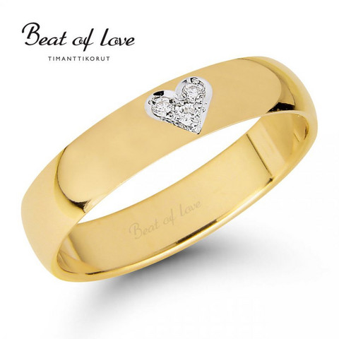 Beat of Love RO-014-KPP-4 keltakulta timanttisormus