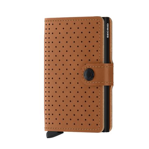 Secrid Miniwallet Perforated Cognac lompakko
