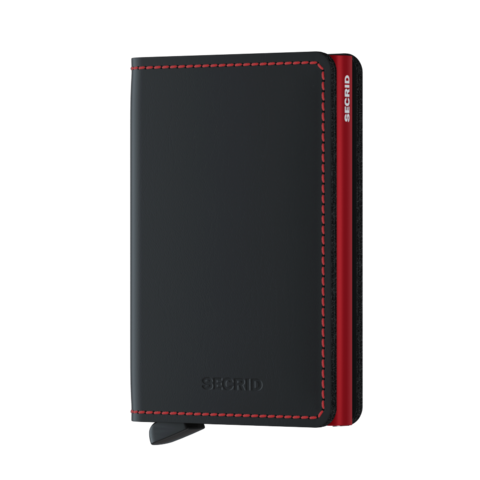 Secrid Slimwallet Matte Black & Red lompakko