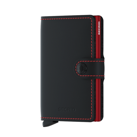 Secrid Miniwallet Matte Black & Red lompakko