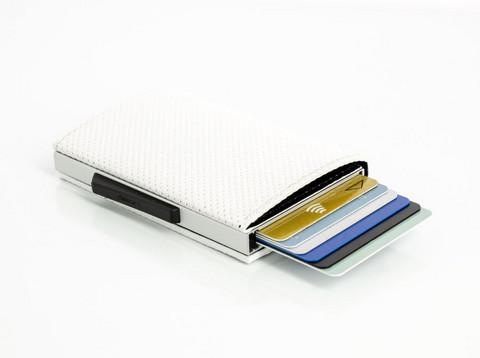 Ögon Cascade Slim Magnets Traforato White lompakko