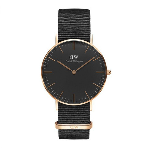 Daniel Wellington Black Cornwall Rose DW00100150 rannekello