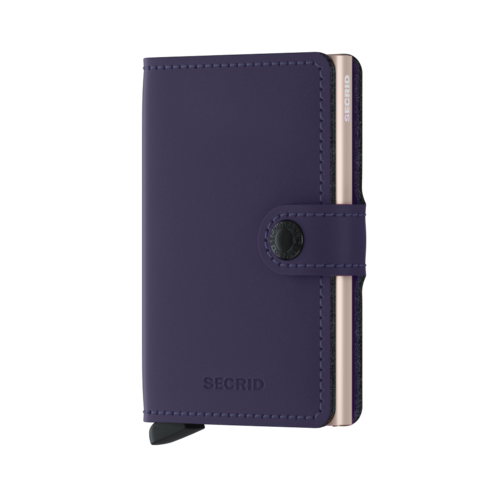 Secrid Miniwallet Matte Purple-Rose lompakko