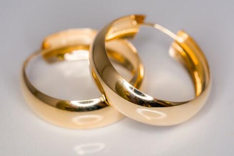 Kulta korvarenkaat 30092