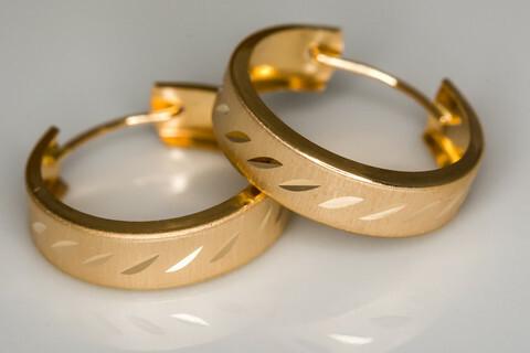 Kulta korvarenkaat 30029