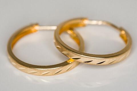 Kulta korvarenkaat 30028