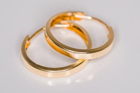 Kulta korvarenkaat 30020