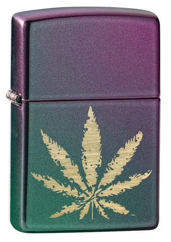 Zippo 49185 sytytin Marihuanan lehti kirjava