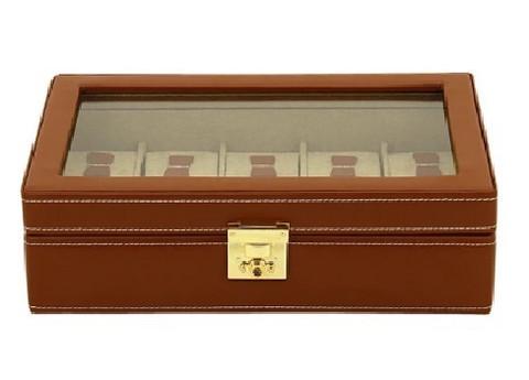Kellolaatikko Brown Cordoba 26215-3   10 kellolle