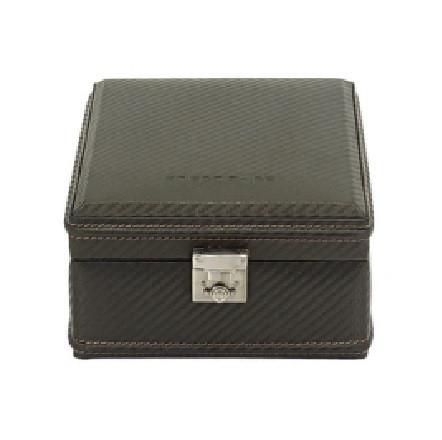Kellolaatikko Carbon Dark Brown 32049-3 | 4 kellolle