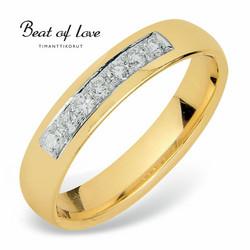 Beat of Love keltakulta timanttisormus RO-012-KPP-4