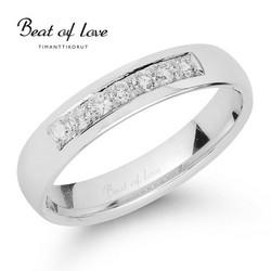 Beat of Love valkokulta timanttisormus RO-012-VKP-4