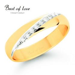 Beat of Love keltakulta timanttisormus RO-026-KPP-5