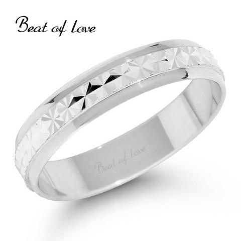 Beat of Love VR108-4 4mm timanttileikattu valkokulta sormus