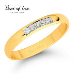 Beat of Love keltakulta timanttisormus RO-012-KPP-3