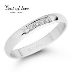 Beat of Love valkokulta timanttisormus RO-012-VKP-3