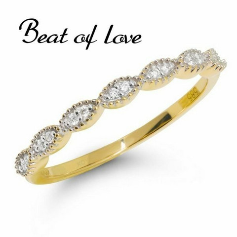 Beat of Love pitsi keltakulta timanttisormus R-9677D