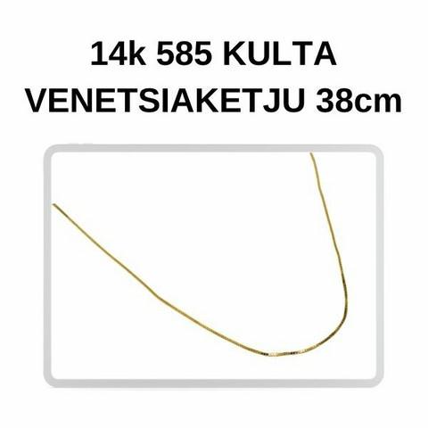 Kulta Venetsia riipusketju 38cm