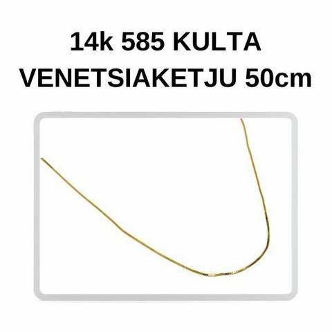 Kulta Venetsia riipusketju 50cm