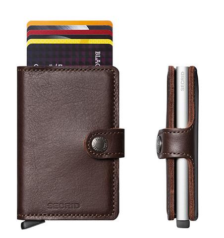 Secrid Miniwallet Original Dark Brown lompakko