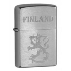 Zippo 200SLF suomi leijona finland harjattu kromi