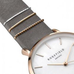ROSEFIELD WEGR-W75 WEST VILLAGE GREY-ROSE GOLD rannekello | toimituskulut 0€