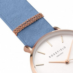 ROSEFIELD WEST VILLAGE AIRY BLUE-ROSE GOLD WAGR-W76 rannekello | toimituskulut 0€