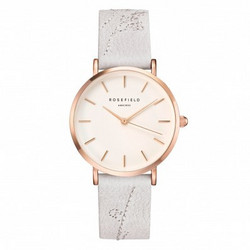 ROSEFIELD THE CITY BLOOM LILY WHITE - ROSEGOLD CILIR-E93 rannekello | toimituskulut 0€