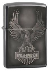 Zippo Harley-Davidson Black Ice Photo Image 49044 sytytin