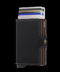Secrid Twinwallet Saffiano Brown lompakko