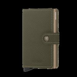 Secrid Miniwallet Saffiano Olive lompakko