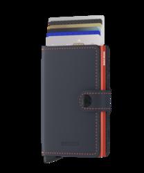 Secrid Miniwallet Matte Nightblue & Orange lompakko