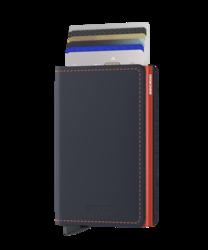 Secrid Slimwallet Matte Nightblue & Orange lompakko