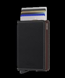 Secrid Slimwallet Saffiano Brown lompakko
