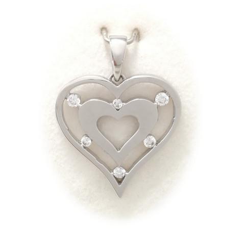 Sydän-riipus, hopeaa 11525