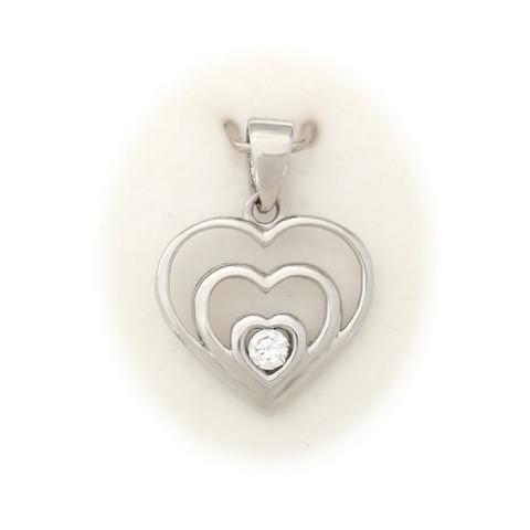 Sydän-riipus, hopeaa 11531