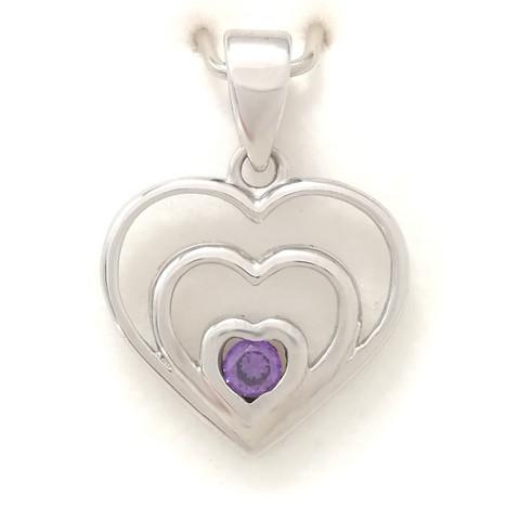 Sydän-riipus , hopeaa 11532
