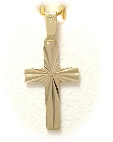 Risti-riipus timanttileikkauksella 19mm korkea, kultaa 21400