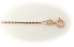 Rose-kullattu Panssari-riipusketju 1,4mm, hopea 14031